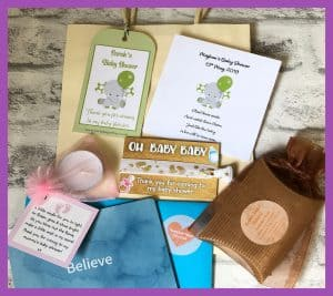 Party Bag Online Baby Shower Party Bag with scented tealight and handmade Summer Feet Foot Cream