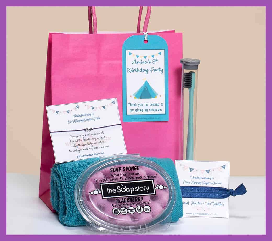 Party Bag Online Sleepover glampover party bag