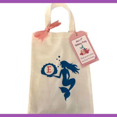 Party Bag Online cotton bag mermaid short handle