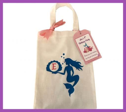 Party Bag Online cotton bag mermaid short handle