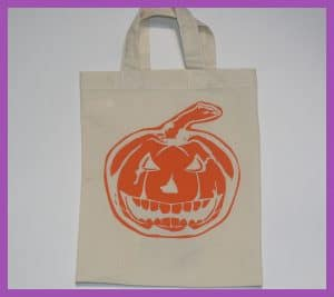 PartyBagOnline Cotton Bag Halloween Short Handle